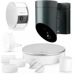 Somfy Home Alarm + Indoor Camera + Outdoor Camera (hvid) hjemmealarmpakke